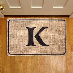 Personalized Custom Fireplace Screens, Unique Gifts, Great Gifts, Ornate Mirror, Personalized Door Mats, Welcome Mats, Burlap, Initials, Monogram