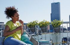 elho loft urban balcony potholder - elho.nl