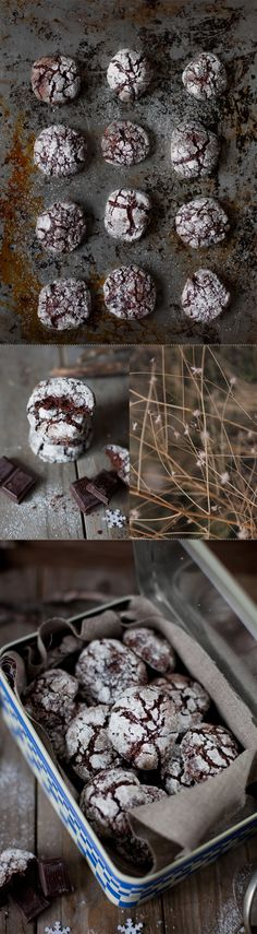 Craquelés au chocolat ....