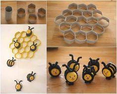 Bijen in korf