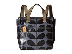 Orla Kiely Shiny Laminated Solid Stem Print Small Backpack. $97 on Zappos