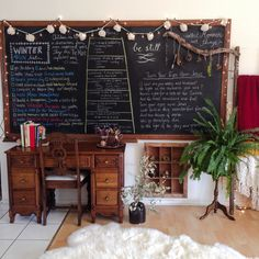 I never get tired of seeing beautiful home learning spaces like this.