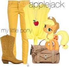 """""""Applejack - My Little Pony"""" by lilyelizajane on Polyvore"""
