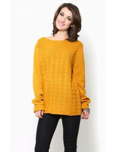 Pointelle Game #Sweater Tunic
