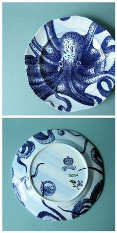 Anthropologie Octopus Salad Plate (2)