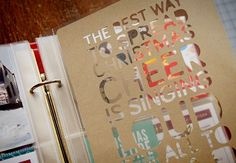 How to make a crafty text-page cutout using the Silhouette - video tutorial here: http://vimeo.com/79296574