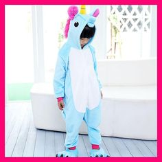 One Piece Unisex Children Unicorn Pajamas Kids Tenma Pajamas Sets Animal Costume Anime Cosplay Sleepwear Party Winter unicornio