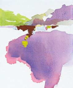 """there's something so beautiful about the simplest of watercolors... Lauren Adams """"Violet River - High Water"""""""