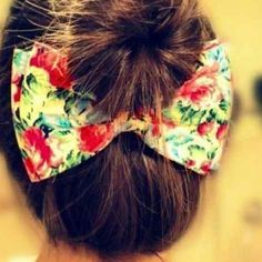 A pretty bow in the back would be a nice touch after wearing my hair in a bun for 3 days :)