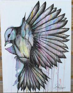 Items similar to Bird painting / Original watercolour on canvas / bird in flight/ fine art / street art/ canvas on Etsy Original Art, Original Paintings, Handmade Jewelry, Handmade Gifts, Watercolor Bird, Birds In Flight, Street Art, Etsy Seller, Fine Art