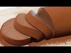 How to make chocolate mousse cake【simple recipe】なめらかチョコレートムースケーキ【簡単♪ゼラチン. Easy Chocolate Desserts, Chocolate Mousse Cake, How To Make Chocolate, Chocolate Recipes, Homemade Desserts, Chocolate Pudding, Sweets Recipes, Cake Recipes, Cooking Recipes