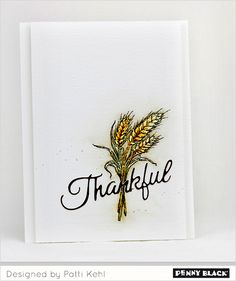 Simply elegant card ideas featuring Penny Black's newest stamp collection, Autumn Wishes 2016