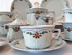 Isabelle Hutschenreuther Porcelain China dessert Tea Set 25 Pieces ~ from Antik Avenue on Ruby Lane