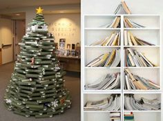 Kerstboom in de boekenkast, waarom niet?