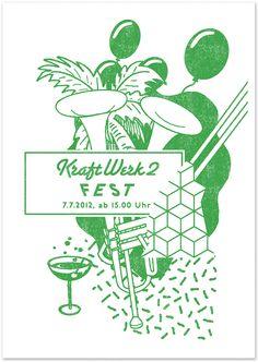 KraftWerk2 Fest. Risoprint by Comet Substance.