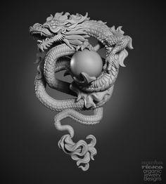 ArtStation - Dragon Pendant, Nacho Riesco Gostanza