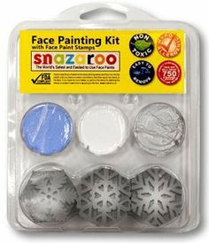 SNAZAROO Face Paint Painting Stamp Kit Snowflakes 3/Misc Snowflakes by Snazaroo. $9.86. Each Stamp Kit comes with 3 face paint colors and 3 stamp designs. Child safety rated. Washes off easily with mild soap and water. Hypo allergenic. Kit will paint 600 stencil designs just add water!
