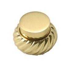 Allied Brass Retro Wave Circle Novelty Knob Finish: Polished Brass