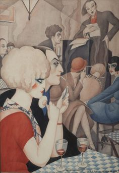Gerda Wegener was a painter, best known for her progressive feminist portraits. Steeped in Art Deco aesthetics, her paintings were considered radical for their engagement with gender, identity, and sexuality. Royal Art, Woman Sketch, Painting Gallery, Art Academy, Art Deco Era, Art Deco Fashion, 30s Fashion, Erotica, Illustrators