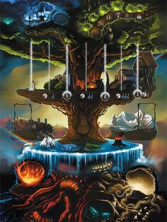 Yggdrasil - The Norse World Ash; the giant mythological tree holding together the nine worlds of existence.