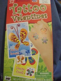 Mello Smello Butterfly Tattoo Valentines by Mello Smello. $0.98. Easily Remove Tattoos with a Bit of Alcohol or Baby Oil. Includes a Page of Heart Stickers to Seal Your Cards with Love!. 8 Beautiful Butterfly Card Designs with Matching Temporary Tatoos. 36 Beautiful Butterfly Valentine's Day Cards with Cute Matching Temporary Tattoos. 8 Wonderfully Winged Designs. Includes a Page of Heart Stickers to Seal Your Cards with Love! A Real Fun Packed Box of Valentine's Day Cards to ...