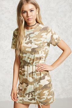 Camo Print T-Shirt Dress