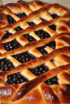 Traditional Finnish Blueberry Pie, is moist filled by lots of berries and the sweet dough is flavoured with cardamom. Served warm from the oven with a dollop of ice cream Finnish Cuisine, Just Desserts, Dessert Recipes, Finnish Recipes, Sweet Dough, Scandinavian Food, International Recipes, Food Inspiration, Crockpot Recipes