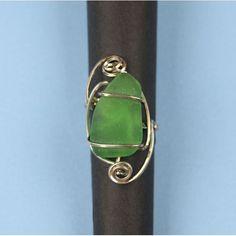 Beach Glass Ring in Sterling Silver Jewelry Showcases, Glass Ring, Gemstone Rings, Gemstones, Panda, Sterling Silver, Beach, Design, Gems