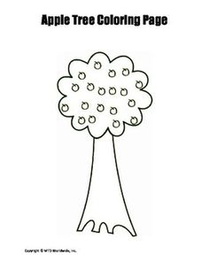 This printable tree coloring page provides an easy sponge activity for a related theme unit. Those searching for a pdf download to print and use immediately will find this resource helpful. This tree outline features apples as well, making it a perfect printable for a theme on apples as well.