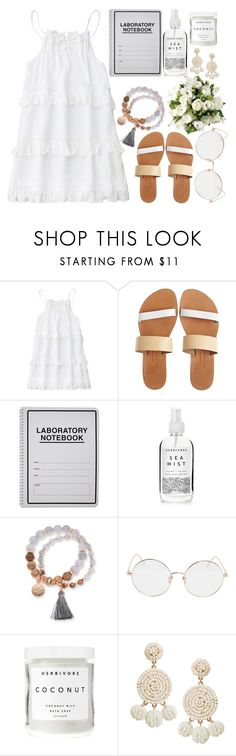 """Flower Power"" by angelina188 ❤ liked on Polyvore featuring Isapera, Herbivore, Kim Rogers, Linda Farrow and Humble Chic"