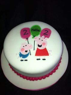 Peppa Pig Cake by Rachel's Cakes, Worcester, United Kingdom. You'll find this Cake Appreciation Society Member in our Directory at www.cakeappreciationsociety.com