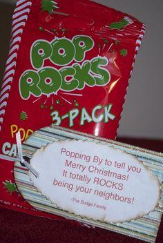 poprocks for Christmas- neighbor ideas