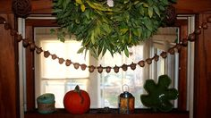 Okay, I admit it. We did these back in October, when acorns were plentiful. But ,  we still have ours hanging for the Christmas season, and ...