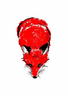 Red Fox II limited edition handmade screenprint made with sustainably sourced paper and water-based inks.  Available from http://tiffhowick.bigcartel.com