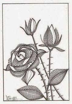 filigree zentangle | Picasa Albums Web Lace bobbin: rose: Bobbin, Patrones Comprados, The ...