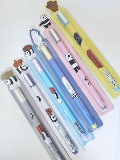 We Bare Bears Gel Pen Black ink, School Office Supply, Student Stationery, Writing Signing Tool School Suplies, Cool School Supplies, Office Supplies, We Bare Bears Wallpapers, Cute Stationary, Cute Pens, We Bear, School Items, Bear Wallpaper