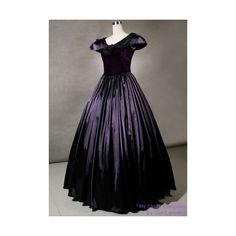 Cloaks:Exquisite Colonial Satin Velvet Ball Gown ($100) found on Polyvore