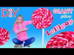 How To Make Giant Lollipop Pillow – DIY Giant Lollipop Floor Cushion - YouTube