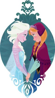 Adorable Anna and Elsa piece