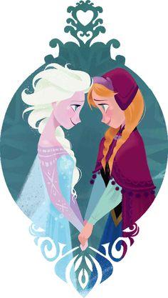Adorable Anna and Elsa piece