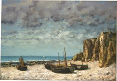 Gustave Courbet, 'Boats on a Beach, Etretat', ca. 1872/1875, Realism