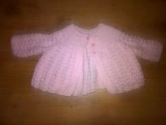 Hand knitted pink matinee jacket in excellent condition Knitted Baby, Baby Knitting, Pink Girl, Baby Girls, Online Price, Best Deals, Long Sleeve, Sweaters, Jackets