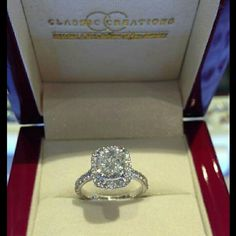 What is a cushion cut engagement rings?:Engagement rings are very popular so they don't need any kind of introduction. We all know that when two people get engaged then they share a ring which is know Dream Engagement Rings, Cushion Cut Engagement Ring, Classic Engagement Rings, Wedding Engagement, Wedding Rings, Wedding Jewelry, Solitaire Engagement, Engagement Jewellery, Mrs Hudson