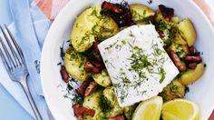 Bagt torsk og maste kartofler med bacon | femina.dk