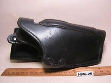 Vintage GOULD-GOODRICH Heavy Smooth Black Leather Pistol Gun Holster MAKE OFFER $64.00 or Best Offer