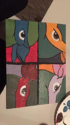 """""""Teenage mutton ninja turtles"""" acrylic canvas painting"""