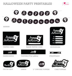 free halloween ghost party printables