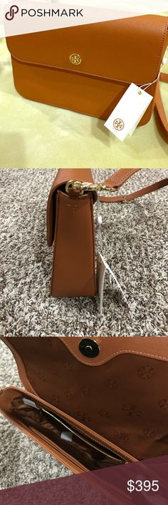 ed77e05aa1e Authentic Tory Burch Quilted Marion Satchel NWOT-Tory Burch Navy Blue  Quilted leather fold over closure magnetic snap. Adjustable leather and  chain…