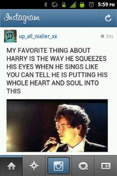 I just love watching him sing because of this! It's just so moving, there is so much power in it. I mean it's incredible!