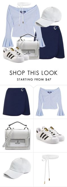 """""""Feeling blue"""" by amya9811 on Polyvore featuring Topshop, Jacquemus, Marc Jacobs, adidas Originals and rag & bone"""